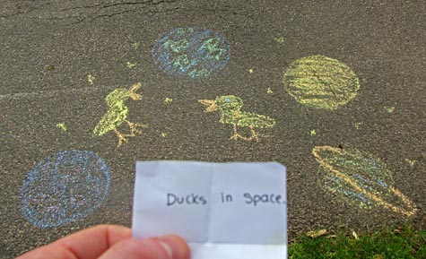 Ducks in space